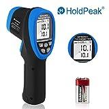HOLDPEAK 1500 Thermomètre Infrarouge Professionnel Sans Contact Laser de -50℃à 1500℃ avec Ecran LCD Rétroéclairé,Émissivité RéglableChamp de visée 30:1,Batteria Inclusa