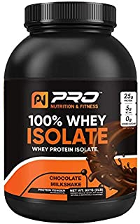 100% Whey Protein Isolate - 0Gm Added Sugar - Keto Friendly - Quick Absorption for Muscles Growth & Repair