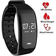 Fitness Tracker, Activity Tracker Watch with Heart Rate and Sleep Monitor,Fitness Watch with Blood Pressure Blood Oxygen Monitor, Step Counter, Calorie Counter, Pedometer Watch for Kids Women and Man