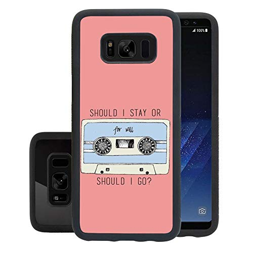 rongyixxzx Cell Phone Case Compatible for Galaxy S8 (5.8') Stranger Things Tape Cassette Quote