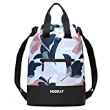 Vooray Flex Cinch, Drawstring Backpack, Travel Bag, Cute Gym Bag for Women, Guava