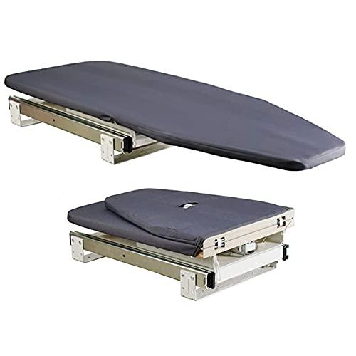 DINGYU Tablero de Plancha Plegable Giratorio Giratorio de 180 Grados Pizarra retráctil extraíble en el Armario se Puede almacenar en el gabinete para una fácil instalación
