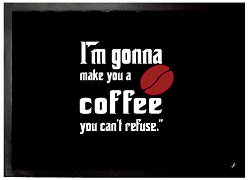 1art1 Don Corleone - I'm Gonna Make You A Coffee You Can't Refuse Felpudo Alfombra (70 x 50cm)