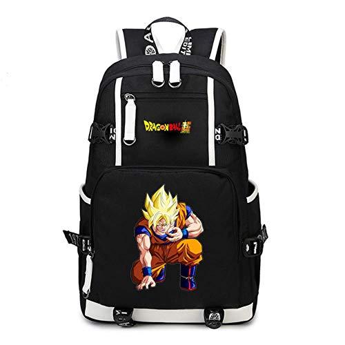 GuiSoHn Dragon Ball Z Zaino Camping Zaini Casual Borsa da Scuola Viaggi Backpack