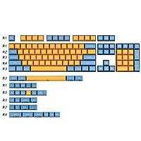 メカニカルキーボード 134キー黄青キーキャップのMXスイッチメカニカルキーボードゲームデコレーションキーキャッププロフィールABSキーキャップ,耐久性のあるゲーミングキーボード (Color : Keycaps set10)