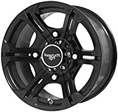 SuperATV Bandit Wheel H-Series for Polaris - Black - 14 Inch - 4/156 Bolt Pattern (for 3/8'' and 12 mm Studs)