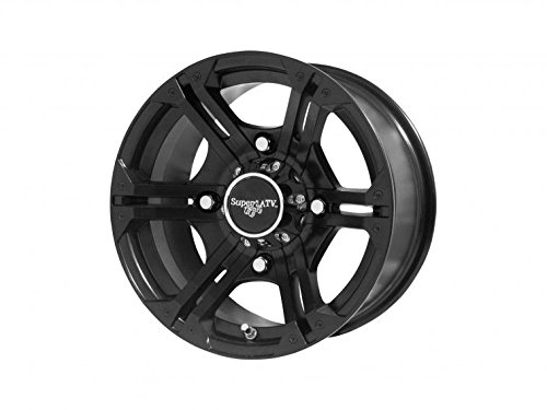 SuperATV Bandit Wheel H-Series For Polaris - Black - 12 Inch - 4/156 Bolt Pattern (for 3/8'' and 12 mm studs)