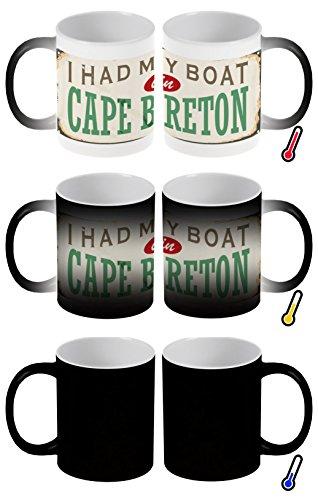 LEotiE SINCE 2004 Zaubertasse Farbwechseltasse Kaffeebecher Tasse Becher Latte Cappuccino Espresso Retro Metropole Kap Breton Kanada