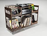 Deluxe Vinyl Display Turn Table Station // Stylishly and Conveniently Display and Spin your Collection of Up to 400 12inch Records //