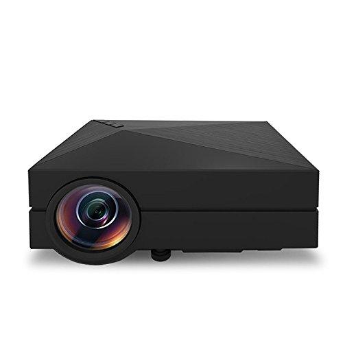 QIA Projektor, Mini-Projektor, LCD-Technologie unterstützt tragbarer Mini-Multimedia-Projektor 1080P Ideal für Heimkino-Projektor