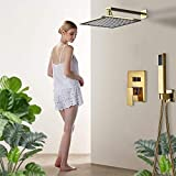 Gnailur Baño Grifo Gold Trow Ducha Baño Grifo Montado con ducha Moquilla de ducha Tap Cuarto de baño Ducha Shower Ducha