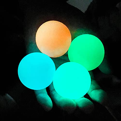 Glow in The Dark Ceiling Balls,Stress Balls for Adults and Kids,Glow Sticky Balls,Squishy Toys for Kids,Fidget Toys,Sensory Toys,Stress Toys,Gifts for Adults and Kids(4Pcs)
