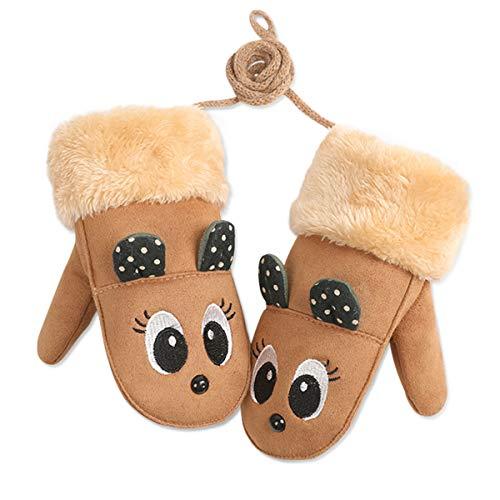 DORRISO Śliczne dziecięce zimowe ciepłe rękawiczki rękawiczki rękawiczki niemowlęce karykatura rękawiczki dla dzieci 4-10 lat zabawy dla dzieci jazda na nartach
