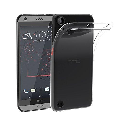 HTC Desire 530 Hülle, iVoler Premium Hülle Tasche Schutzhülle Case Cover Transparent Klare Weiche TPU Silikon Gel Schutzhülle Bumper Löschen Back für HTC Desire 530