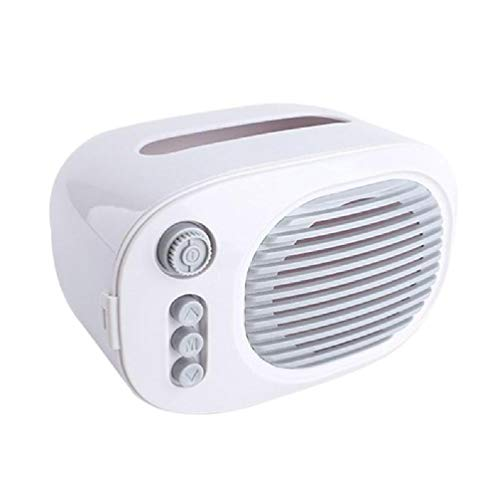 Ydh - Mini portapañuelos en forma de radio, bonito estuche de almacenamiento para oficina en casa