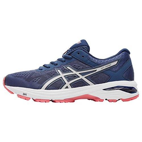 Asics T7A9N5093, Zapatillas de Running para Mujer, Azul (Insignia Blue/Silver/Rouge Red), 37 EU