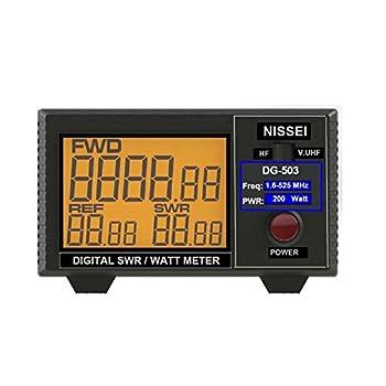 Fumei DG-503 Digital LCD 3.5  SWR/Watt Meter HF 1.6-60MHz & VHF/UHF 125-525MHz 1-200W for Two-Way Radio