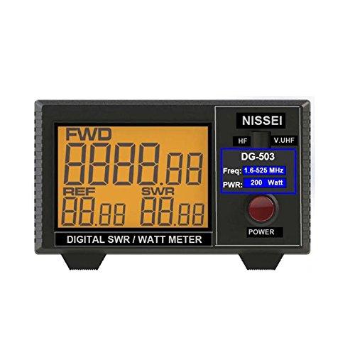 "Fumei DG-503 Digital LCD 3.5"" SWR/Watt Meter HF 1.6-60MHz & VHF/UHF 125-525MHz 1-200W for Two-Way Radio"