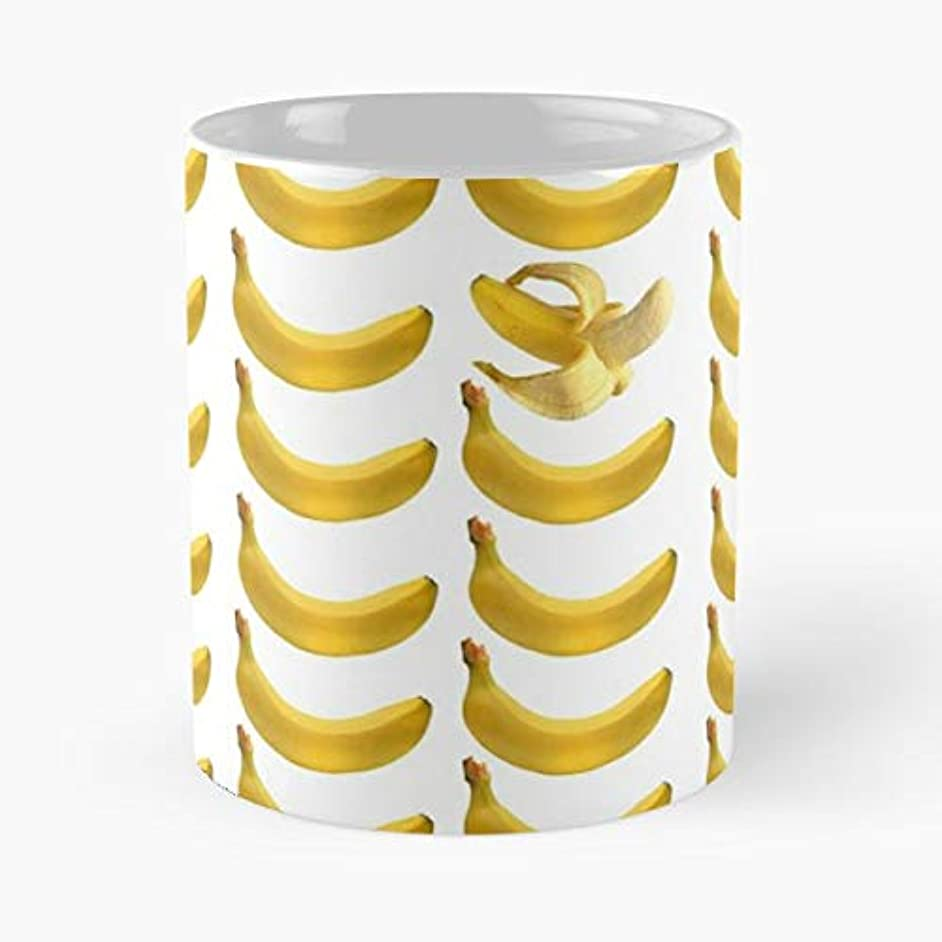 Bananas Pattern Yellow Ceramic Coffee Cup
