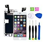 Screen Replacement Compatible with iPhone 6S 4.7 inch Full Assembly - LCD 3D Touch Display Digitizer with Ear Speaker, Sensors and Front Camera, Fit Compatible with All iPhone 6s (White)