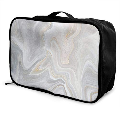 Bolsas de Maleta Marble Stone Lightweight Waterproof Large Travel Duffel Bag Rolling Packable Extra Overnight Luggage Bags For Camping Gym Bags For Men/Women Overnight Bag