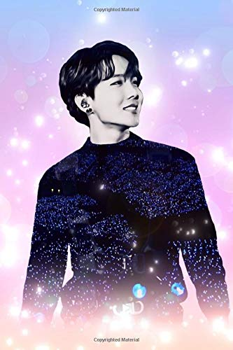 """BTS J-Hope: Glowing Bokeh Member Performing Infused with Concert Lightstick Ocean 100 Page 6 x 9"""" Blank Lined Notebook Kpop Journal Book Fan Merch for Army Fandom"""