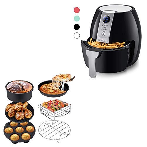 Ultrean Air Fryer, 4.2 Quart (4 Liter) Electric Hot Air Fryers Oven Oilless Cooker and Air Fryer Accessories, Set of 6 Fit All 5.8Qt,6Qt Air Fryers, BPA Free, FDA Compliant, XL