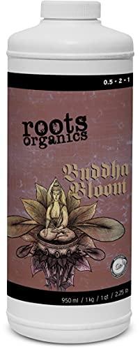 Roots Organics Buddha Bloom, Organic Liquid Fertilizer, 0.5-2-1 NPK, Quart