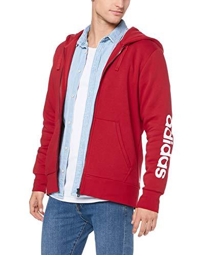 adidas Ess Lin fzhoodb Giacca, Uomo, Uomo, CZ9012, Rosso (Escarl), XS