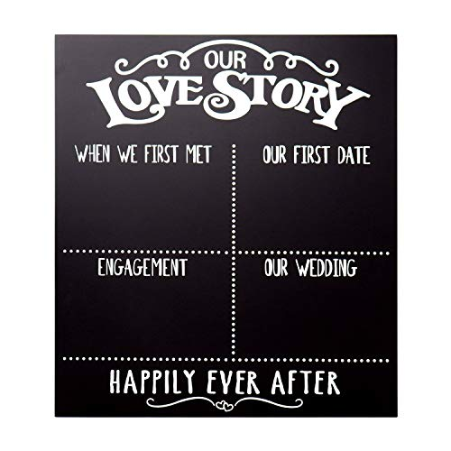 JennyGems - Our Love Story Chalkboard - First Met - First Date - Engagement Party - Wedding - Anniversary - Happily Ever After - Photo Shoot Prop - Wedding Signs