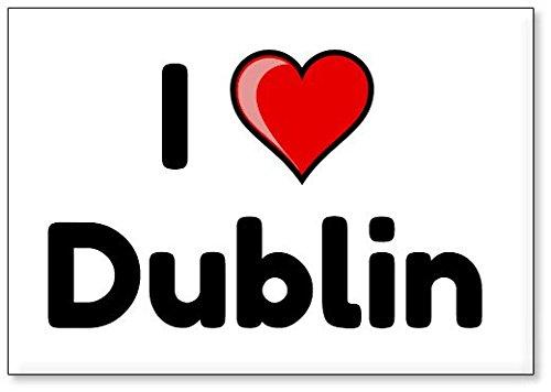 Mundus Souvenirs - Amo Dublin, imán para Nevera (diseño 2)