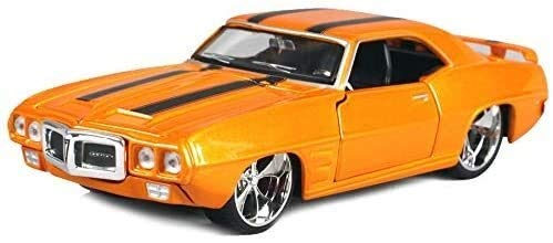 WASHULI 1:24 Scale 1969 Pontiac Firebird Muscle Car Model, Static Simulation Alloy Car Die-Casting Car Model, Door And Hood Can Be Opened, The Best Gift Collection 20.2×8.5×5.4CM