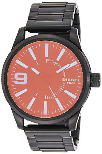 Diesel Herren Analog Quarz Uhr mit Edelstahl Armband DZ1844
