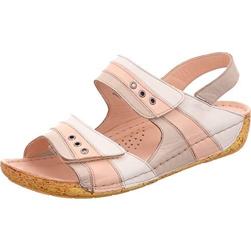 Gemini 032003-02 Damen Sandalen Sandaletten Slingback, Schuhgröße:39 EU, Farbe:Grau