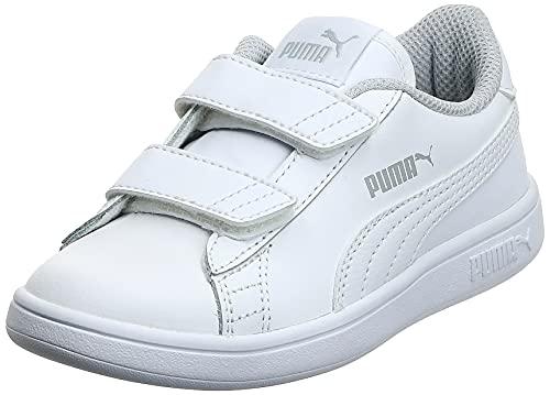 PUMA Smash V2 L V PS, Zapatillas, Blanco White White, 33 EU