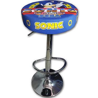 Roboticaencasa Taburete Arcade DISEÑO Sonic Retro Mueble Silla