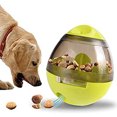 Treat Dispenser Dog Toy,Dog Treat Ball,Food Dispenser-IQ Treat Ball Interactive Feeder Dispensing Dog Toy for Dogs & Cats Funny Puzzle Food Ball