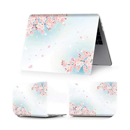 Peach-Girl Cherry Case for MacBook Air 13 A1466 A1932 A2179 Pro Retina 11 12 13 15 16 Inches A2251 A1706 A1708 A1989 A2159-ying hua Y 4-Pro 13 Retina A1502