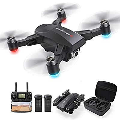 GPS Drone with 4K Camera for Adults, Dual Camera 5G WiFi FPV Live Video Foldable Drone 30mins Flight Time,120°Wide-Angle Auto Return Follow Me, Easy for Beginner …
