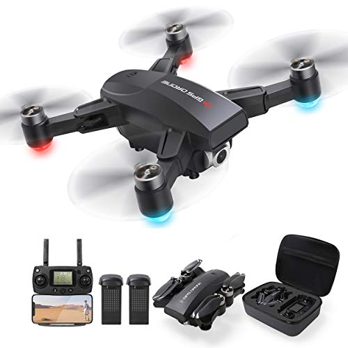 GPS Drone with 2.7K UHD Camera for Adults, Foldable 5G WiFi FPV Transmission Live Video with Brushless Motor,50mins Flight Time, 500m Control Range,Auto Return Follow Me Quadcopter for Beginner