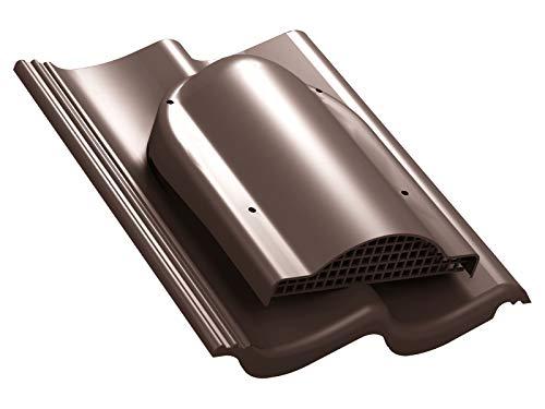 Flachlüfter für Braas - Doppel-S, Nelskamp - S, IBF - Doppel-S, ProDach - Doppel-S Dachlüfter Entlüfter Lüftungsziegel (RAL 8017 - Braun)