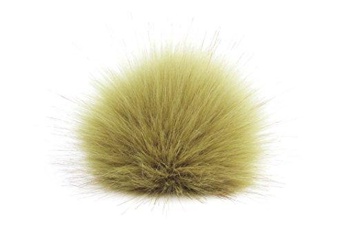 Bommel pompon beige 12 cm 17 deluxe couleur pistache