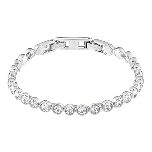 SWAROVSKIWomen's Attract Rhodium Finish Tennis Bracelet, White Crystal