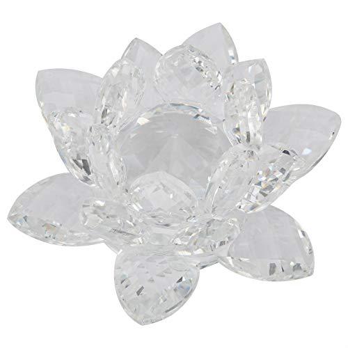 Duokon 3.5in theelichthouder kwarts kristal lotusbloem handwerk glas presse-papier ornamenten figuren home bruiloft party decoratie geschenken souvenir