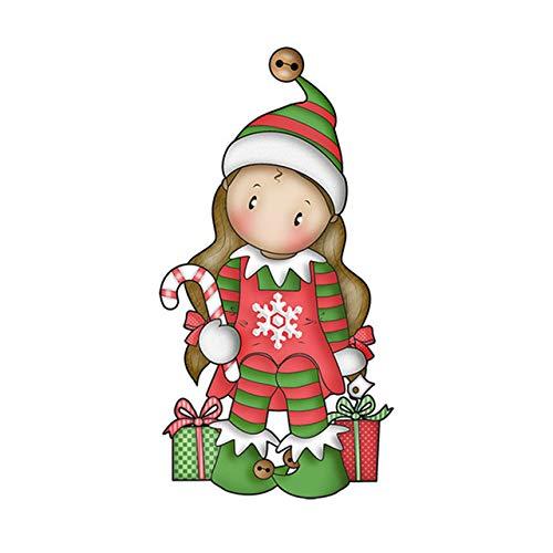 Christmas Unicorn Girl Metal Cutting Dies Bear Gingerbread Man Santa Doll Embossing Stencil DIY Scrapbooking Card Decoration,7