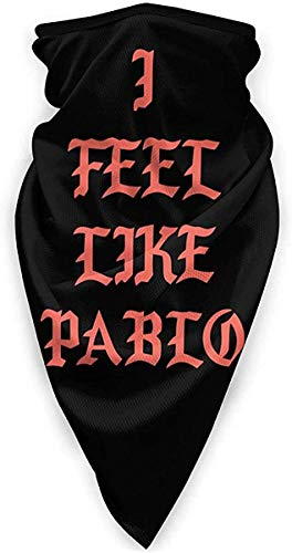 LSalas I Feel Like Pablo Unisex Multi-Function Windproof Sport Scarf Dust Respirator,Black,One Size