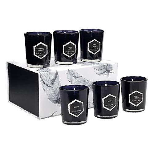 Velas Perfumadas Set de Regalo de Velas de Aromaterapia de Cera de Soja Natural para Esposa, Día de La Madre, Aniversario Paquete de 6 Unidades