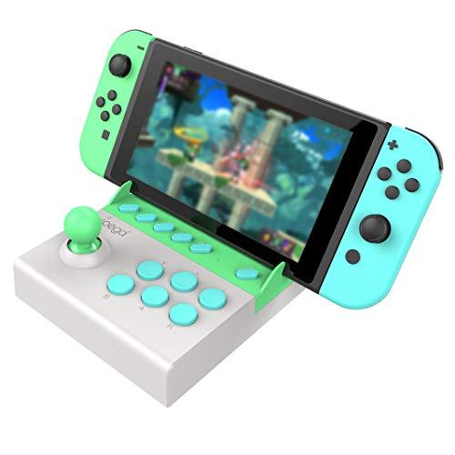 【ipega公式製品】PG-9136A 【最新限定タイプ】 小型アーケード Switch用 ミニアケコン アーケードコントローラー ミニファイティングスティック 格闘ゲームコントローラー TURBO連射機能搭載【Nintendo Switch専用】【日本語取扱説明書】