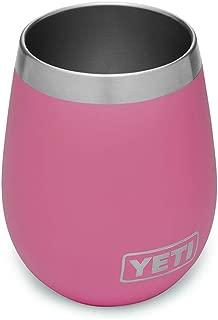 YETI Rambler 10 oz Stainless Steel Vacuum Insulated Wine Tumbler, Harbor Pink