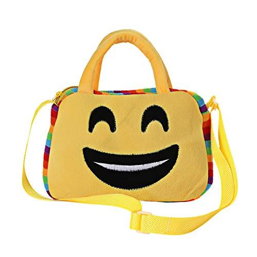 CHAN Niedlich Gesichtsausdruck Schulter Schulkind Tasche Schulranzen, Rucksack Taschen Für Frauen, Messenger Bags, Gelb Kleine Geldbörse,A7
